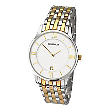Sekonda Men's Two Colour Stainless Steel Bracelet Watch - Product number 3761061