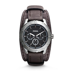 Fossil Kipton Men's Black Dial  Strap Watch - Product number 3761487