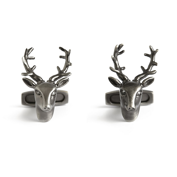 Simon Carter Stag stainless steel cufflinks - Product number 3761592