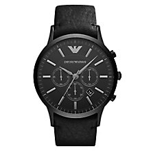 Emporio Armani Men's Ion Plated Black Strap Watch - Product number 3762017