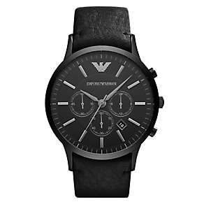Emporio Armani Sportivo men's ion-plated black strap watch - Product number 3762017