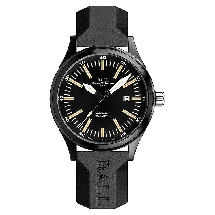 Ball Fireman Night Train DLC men's black strap watch - Product number 3762378