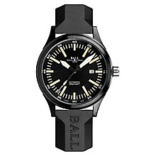 Ball Fireman Night Train DLC men's black strap watch - Product number 3762378