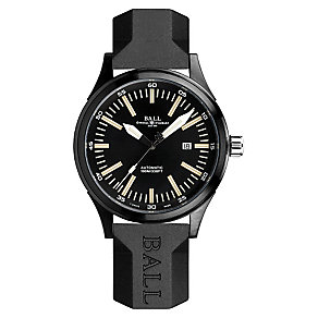 Ball Fireman men's ion plated black strap watch - Product number 3762378