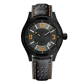 Ball Fireman men's ion plated black strap watch - Product number 3762416