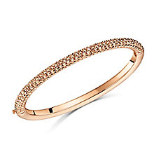 Buckley Rose Gold Plated Pave Set Crystal Domed Bangle - Product number 3762629