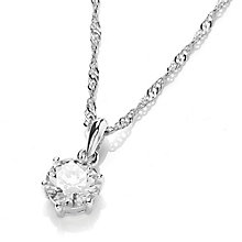 Buckley London Brilliant Cut Cubic Zirconia Pendant - Product number 3762718
