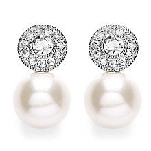 Buckley Stone Set Milgrain Simulated Pearl Stud Earrings - Product number 3762769