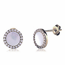 Gaia Sterling Silver Mother Of Pearl Stud Earrings - Product number 3762890