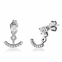 Gaia Sterling Silver & Cubic Zirconia Swing Earrings - Product number 3762904