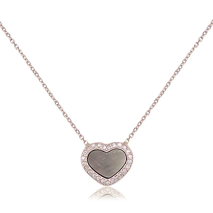 Gaia Sterling Silver Mother Of Pearl Heart Pendant - Product number 3762947