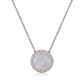 Gaia Sterling Silver Mother Of Pearl Round Pendant - Product number 3762963