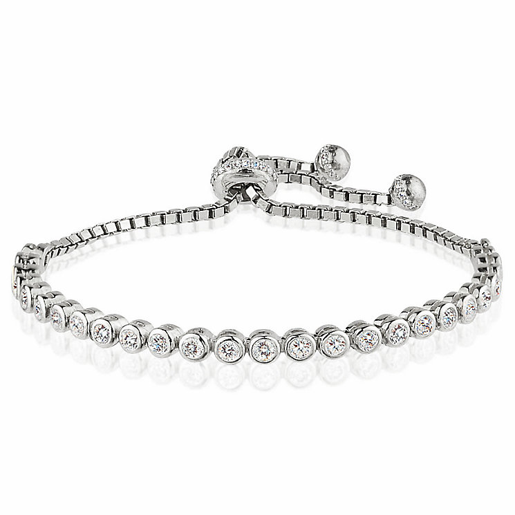 Gaia Sterling Silver Stone Set Tennis Bracelet - Product number 3763102