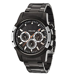 Police Men's Black Ion-Plated Stainless Steel Bracelet Watch - Product number 3763188