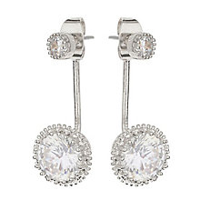 Mikey Silver Tone Round Clear Crystal Ear Jackets - Product number 3763250
