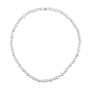 Mikey Silver Tone Clear Crystal Tennis Necklace - Product number 3763447