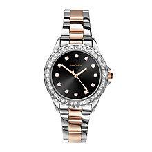 Sekonda Editions Ladies' Stone Set Two Colour Bracelet Watch - Product number 3765067