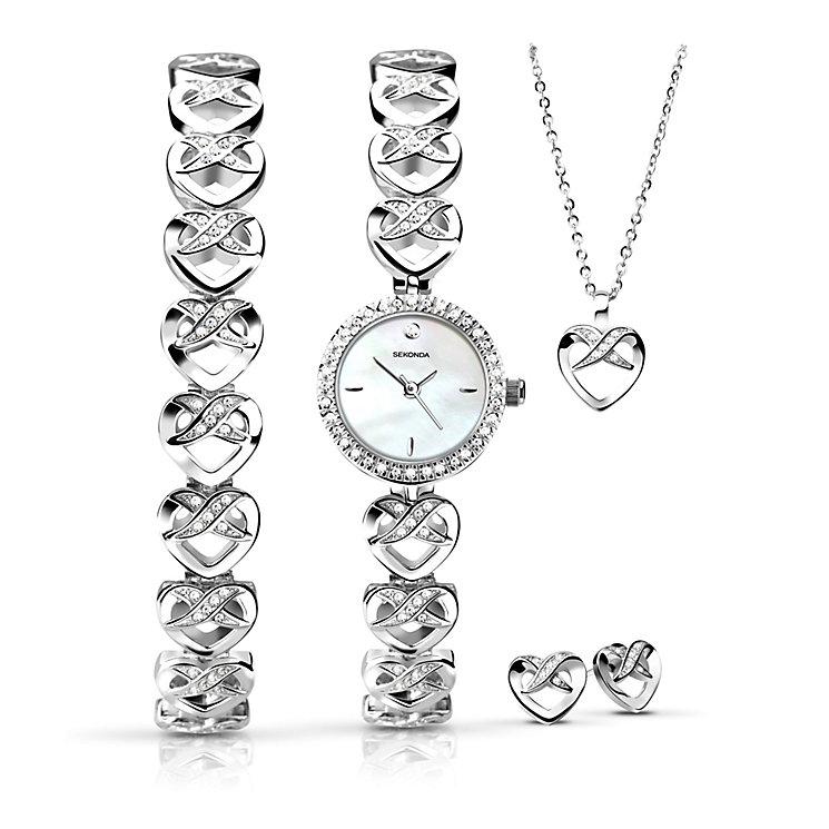 Sekonda Ladies' Bracelet Watch, Bracelet, Pendant & Earrings - Product number 3765083