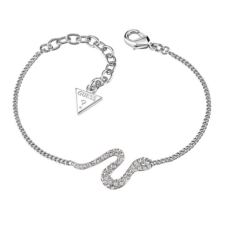 Guess Rhodium-Plated Stone Set Serpent Bracelet - Product number 3765415
