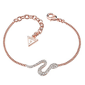 Guess Rose Gold-Plated Stone Set Serpent Bracelet - Product number 3765423