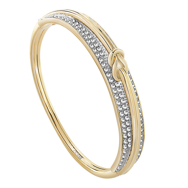 Guess Gold-Plated Stone Set Spring Hinge Bangle - Product number 3765458