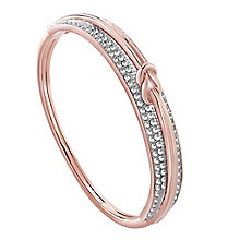 Guess Rose Gold-Plated Stone Set Spring Hinge Bangle - Product number 3765466
