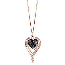 Guess Rose Gold-Plated Winged Pave Stone Set Heart Pendant - Product number 3765520