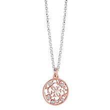 Guess Rose Gold-Plated Stone Set Ornamental Disc Pendant - Product number 3765571