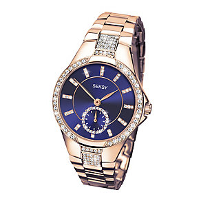 Sekonda Seksy Eternal Ladies' Rose Gold Plate Bracelet Watch - Product number 3765660