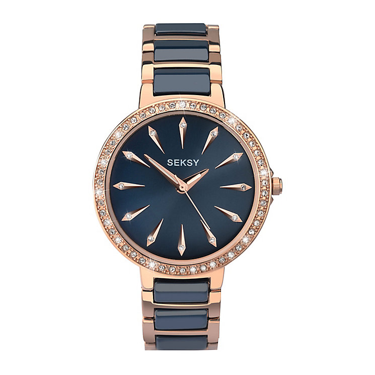 Seksy Ladies' Two Colour Bracelet Watch - Product number 3765679
