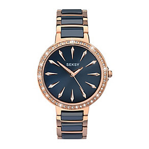Sekonda Seksy Ladies' Two Colour Bracelet Watch - Product number 3765679