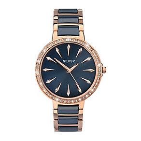 Sekonda Seksy Ladies' Two Colour Bracelet Watch - Product number 3765679