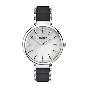 Sekonda Seksy Ladies Silver Dial Two Colour Bracelet Watch - Product number 3765687