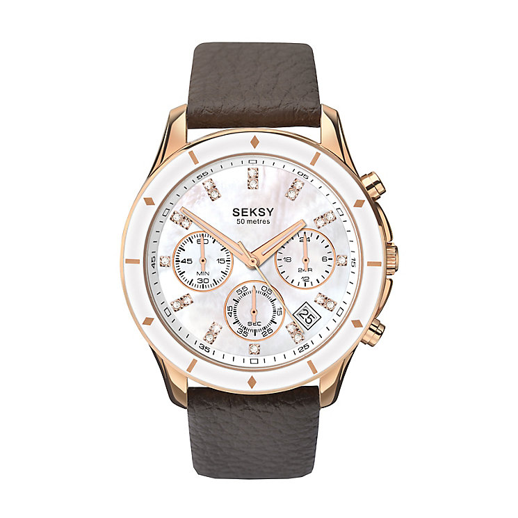 Seksy Editions Ladies' Chronograph Leather Watch - Product number 3765733
