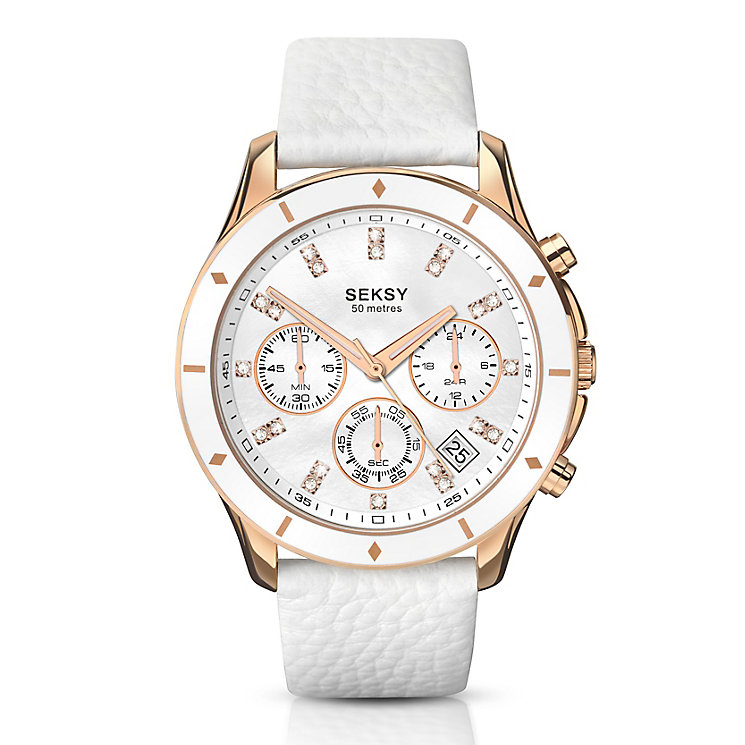 Seksy Ladies' 365 Chronograph Leather Strap Watch - Product number 3765741
