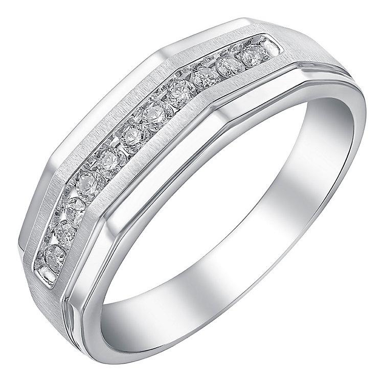 9ct white gold quarter carat diamond ring - Product number 3766098