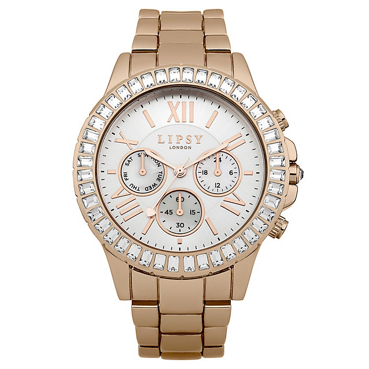 Lipsy Ladies' White Dial Rose Gold Plated Bracelet Watch - Product number 3767507