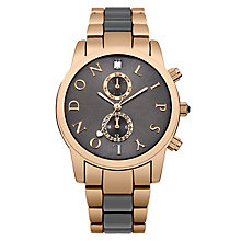 Lipsy Ladies' Grey Dial & Grey & Rose Gold Plated Watch - Product number 3767604