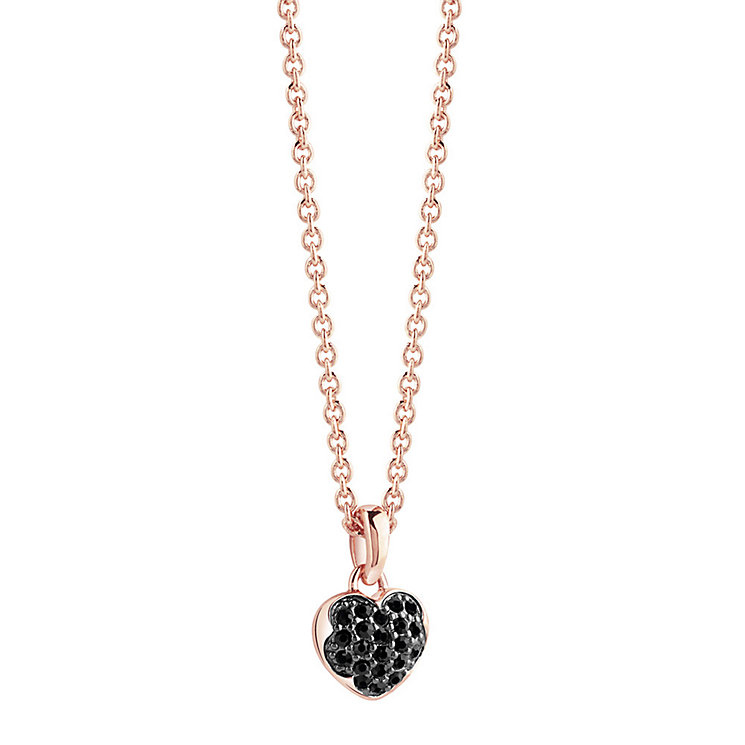 Guess Rose Gold-Plated Stone Set Mini Heartburst Pendant - Product number 3768899