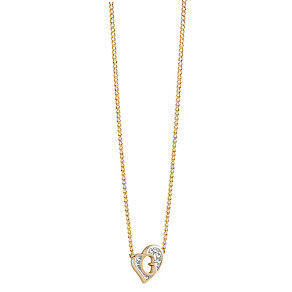 Guess Gold-Plated Stone Set Mini 'G' Heart Necklace - Product number 3768937