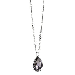 Guess Rhodium-Plated Large Stone Set Teardrop Pendant - Product number 3768961