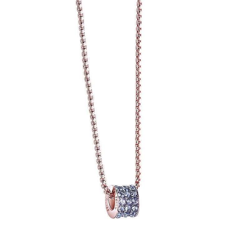 Guess Rose Gold-Plated 3 Row Stone Set Charm Necklace - Product number 3768996