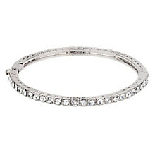 Mikey Silver Tone Clear Crystal Bangle - Product number 3769038