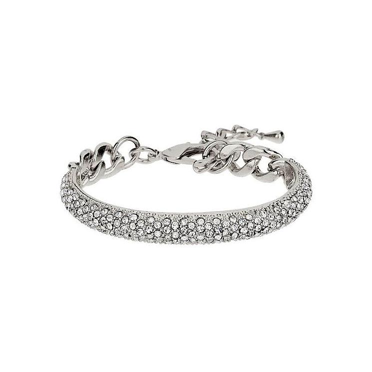 Mikey Silver Tone Half Crescent Crystal Set Bracelet - Product number 3769046