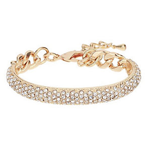 Mikey Yellow Hold Tone Half Crescent Crystal Set Bracelet - Product number 3769054