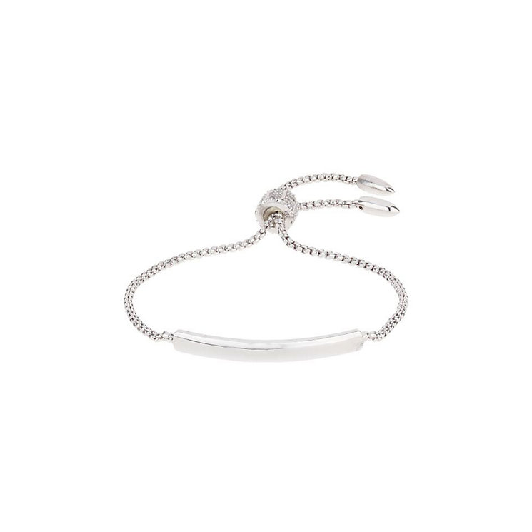 Mikey Silver Tone Chain ID Tie Bracelet - Product number 3769097