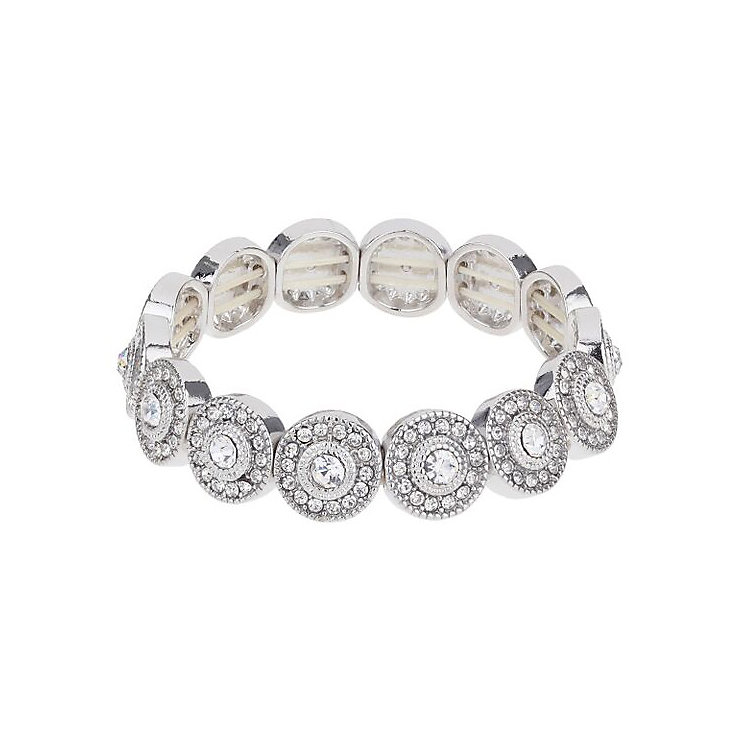 Mikey Silver Tone Stone Set Circle Design Bracelet - Product number 3769143