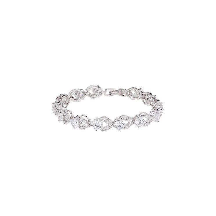 Mikey Silver Tone Crystal Link Bracelet - Product number 3769194