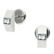 DKNY City Sparkle Sterling Silver Stone Set Stud Earrings - Product number 3769283