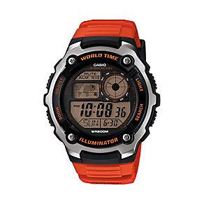 Casio Men's Black Dial Orange Resin Strap Watch - Product number 3770087